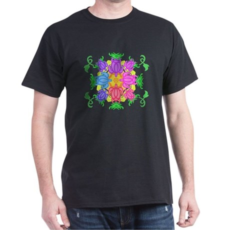 Flower Turtles Dark T-Shirt