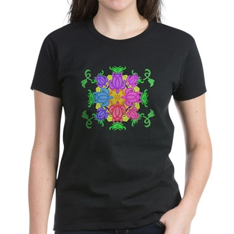 Flower Turtles Women's Dark T-Shirt