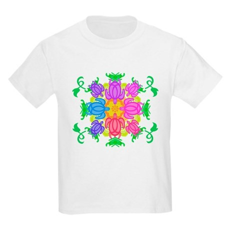 Flower Turtles Kids Light T-Shirt