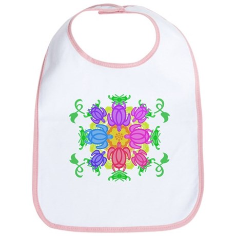 Flower Turtles Bib