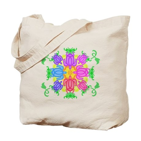 Flower Turtles Tote Bag