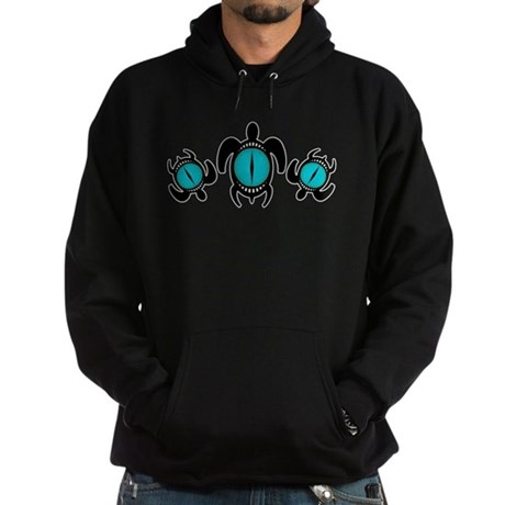 Three Cat's Eye Turtles Hoodie (dark)