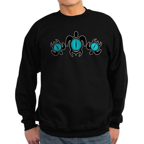 Three Cat's Eye Turtles Sweatshirt (dark)