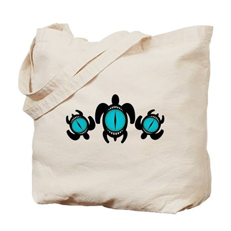 Three Cat's Eye Turtles Tote Bag