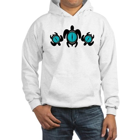 Three Cat's Eye Turtles Hooded Sweatshirt