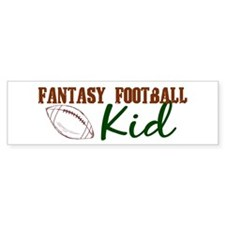 Fantasy Football Kid Bumper Bumper Sticker