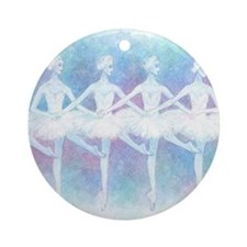Dance of the Baby Swans Ballet Ornament (Round)