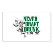 Fantasy Football Draft Drunk Rectangle Sticker 50