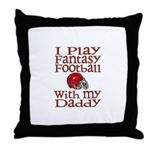 Fantasy Football with Daddy Throw Pillow