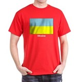 Ukraine Ukrainian Flag (Front) Black T-Shirt