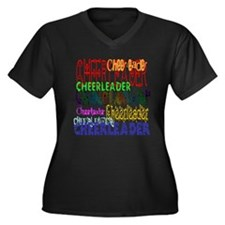 Multi Cheerleader Women's Plus Size V-Neck Dark T-