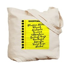 DEXTER'S SHOPPING LIST Tote Bag