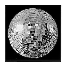 Silver Disco Ball Tile Coaster