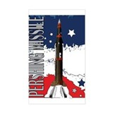Pershing Missile ICBM Rectangle Decal