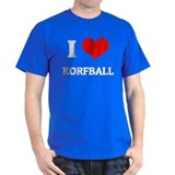 I Love Korfball Black T-Shirt