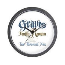Graves Family Reunion Wall Clock