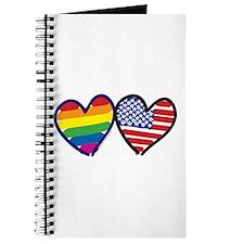 Patriotic Rainbow Hearts Journal