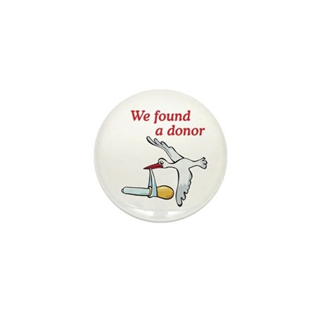 Donor Found Stork Mini Button (100 pack)