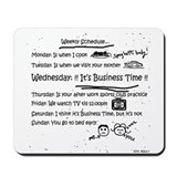 Business Time Weekly Schedule Mousepad