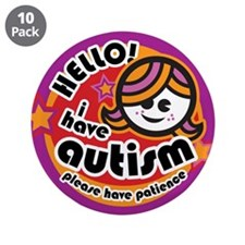 "Funny Love autism 3.5"" Button (10 pack)"