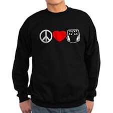 Peace, Love, Cloth Sweatshirt
