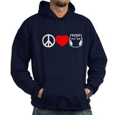 Peace, Love, Cloth Hoodie