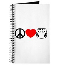 Peace, Love, Cloth Journal