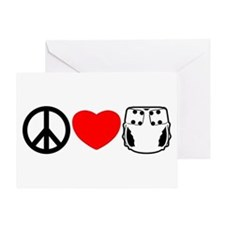 Peace, Love, Cloth Greeting Card