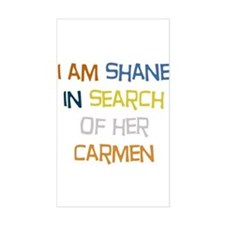 I Am Shane Rectangle Stickers