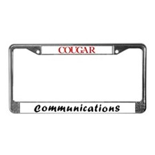 Cougar Communications License Plate Frame