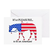 Patriotic Western Pleasure Greeting Card