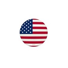 Chubby US Flag Mini Button