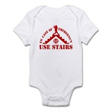 In Emergency Use Stairs Infant Bodysuit