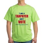 I VOTE! 2-sided Green T-Shirt