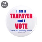 "I VOTE! 3.5"" Button (10 pack)"