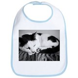 Black and White Shorthaired Cat Bib