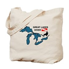 Great Lakes Scuba Tote Bag