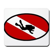 Diver Down Flag Diver Mousepad