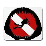 Diver Down Shark Jaw Original Mousepad