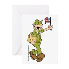 Flag-waving Beetle Greeting Cards (Pk of 10)