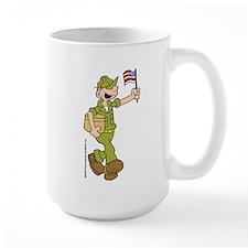 Flag-waving Beetle Large Mug