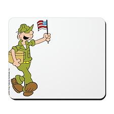 Flag-waving Beetle Mousepad