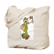 Flag-waving Beetle Tote Bag