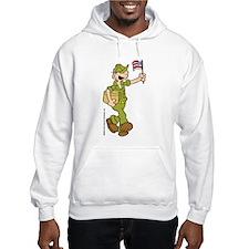 Flag-waving Beetle Hooded Sweatshirt