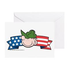 Star-Spangled Beetle Banner Greeting Card