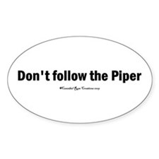 The Piper Oval Decal