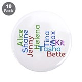 "Character Name Word Cloud 3.5"" Button (10 pack)"