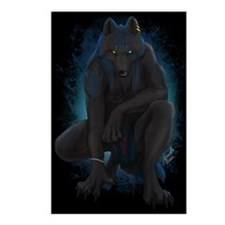 Funny Werewolf Postcards (Package of 8)