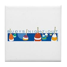 Buoys Night Out Tile Coaster