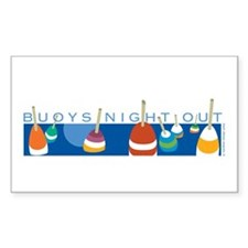 Buoys Night Out Rectangle Sticker 50 pk)